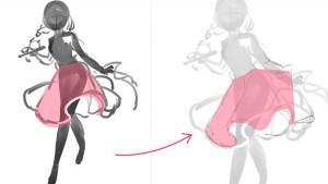 蓬鬆輕飄裙子的繪畫秘訣!喇叭裙的畫法