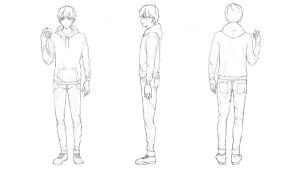 【便服(帽T・牛仔褲)篇】學習服裝皺褶