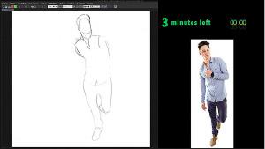 畫出男性站姿與服裝上的表現!