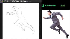 畫出動態感般姿勢的男性!